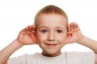 Dziecko, uszy, słuch