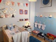 Pokój dziecka w kolorze błękitnym